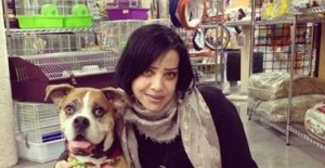"""WOW!  Aren't I a lucky dog meeting Bif Naked!"""